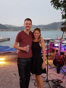 Martin und Martina am Attersee