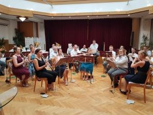 Musikverein Biberbach bei einer Hochzeit
